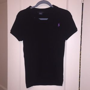 Ralph Lauren Black Polo Shirt Size Medium